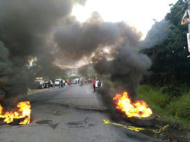Protesta carretera
