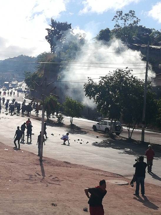 Represión en salida a Danlí