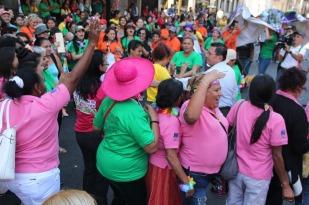 Las mujeres protestaron en la Costa Norte de Honduras, San Pedro Sula.